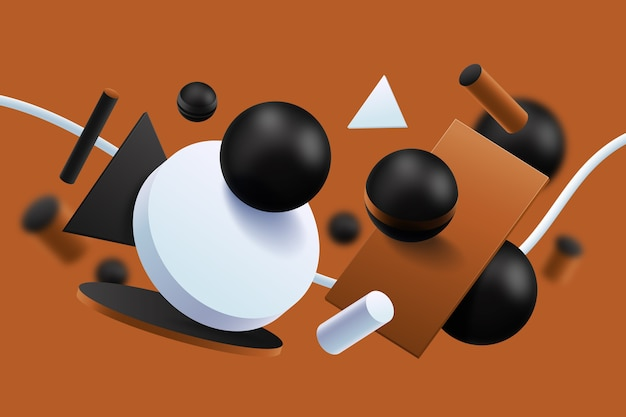 Formas geométricas abstratas fundo 3d
