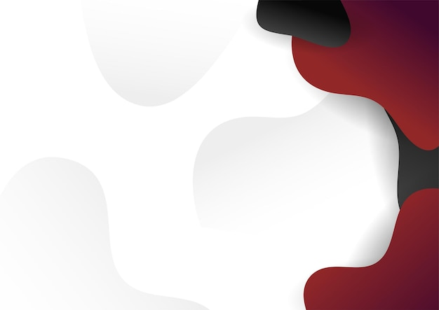 Formas geométricas abstratas pretas vermelhas sobre fundo branco. adequado para plano de fundo de apresentação, banner, página de destino da web, interface do usuário, aplicativo móvel, design editorial, folheto, banner e outras ocasiões relacionadas