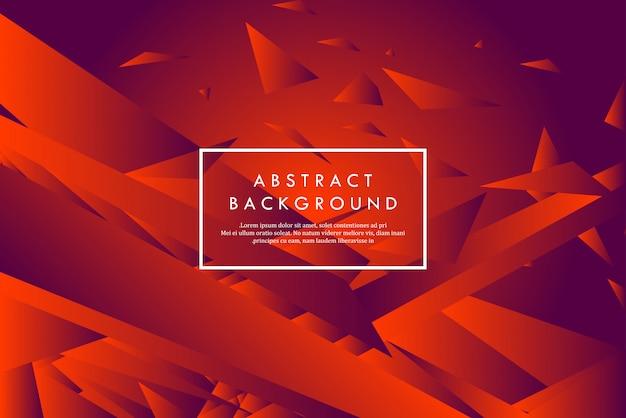 Formas geométricas abstratas vermelhas criativas