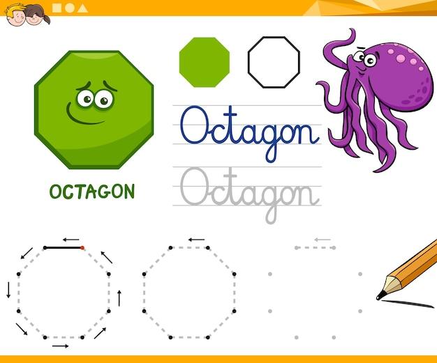 Formas geométricas básicas do cartoon octagon