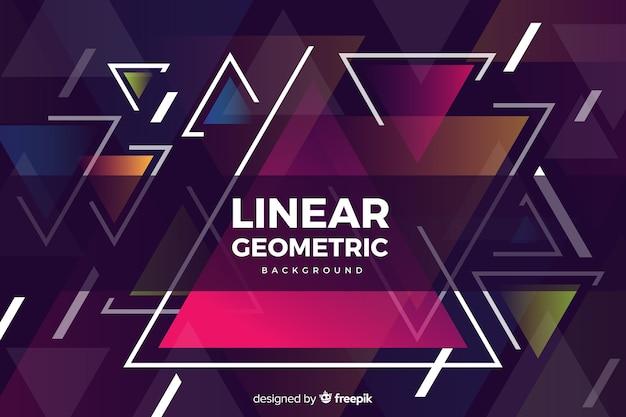 Formas geométricas coloridas em design plano