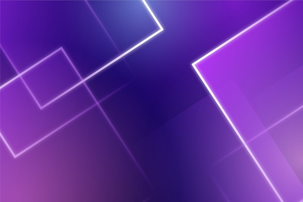 Formas geométricas com luzes de neon