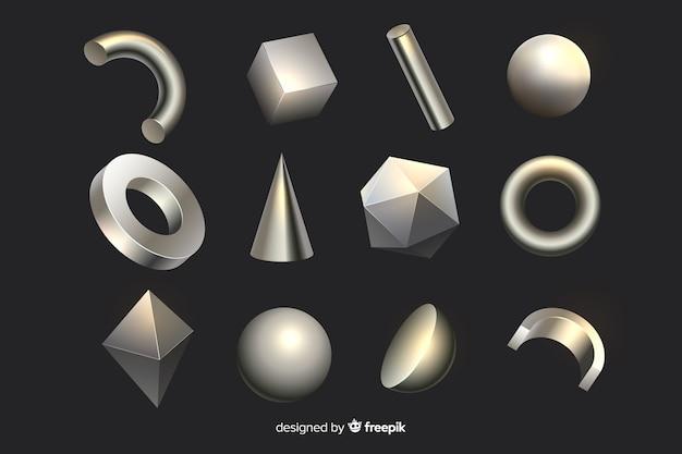 Formas geométricas de efeito 3d