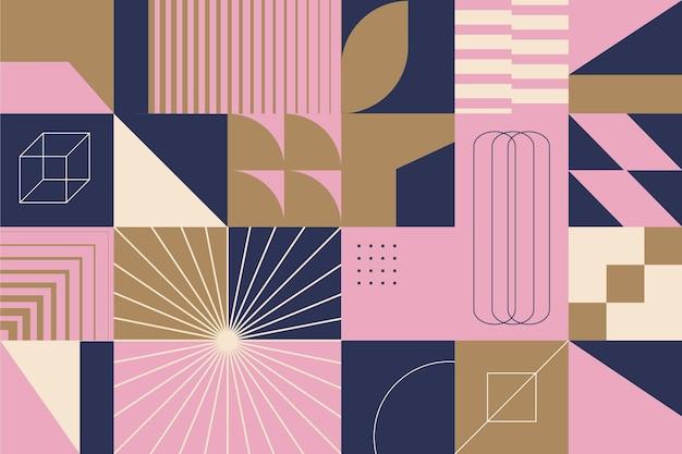 Formas geométricas de fundo abstrato