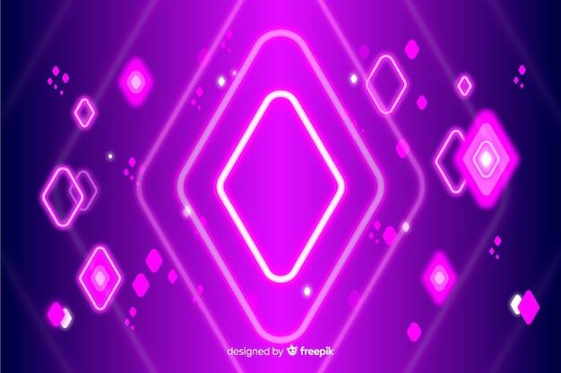 Formas geométricas de néon fundo decorativo