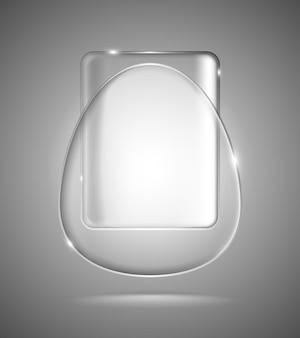 Formas geométricas de vidro iluminado