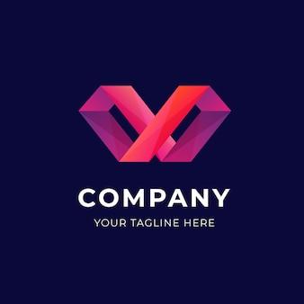 Formas geométricas do modelo de negócio do logotipo