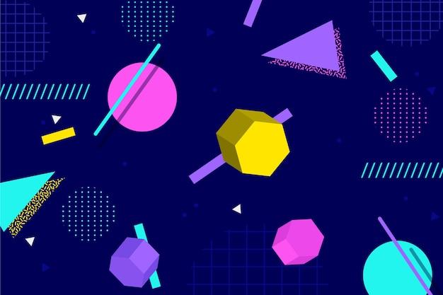 Formas geométricas em design plano