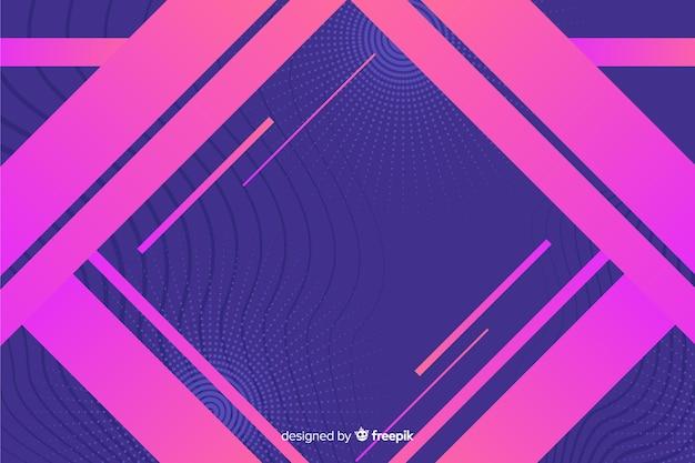 Formas geométricas em estilo gradiente
