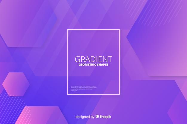 Formas geométricas gradientes abstratas backround