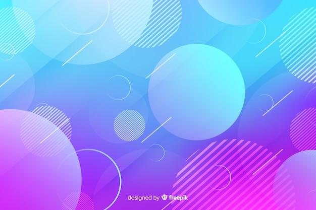 Formas geométricas gradientes com círculos