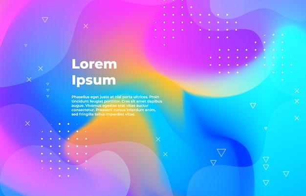 Formas geométricas gradientes com design minimalista futurista