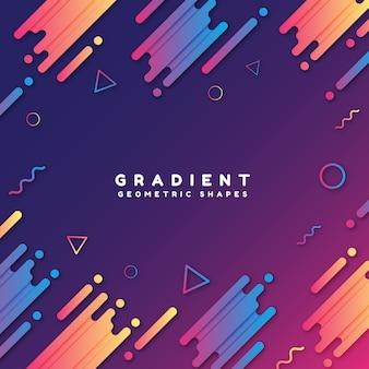 Formas geométricas gradientes com fundo legal
