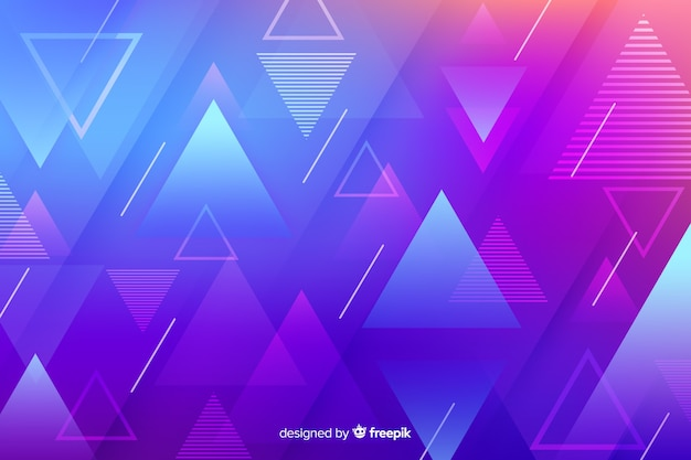 Formas geométricas gradientes com triângulos