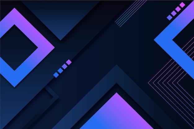 Formas geométricas gradientes de fundo escuro