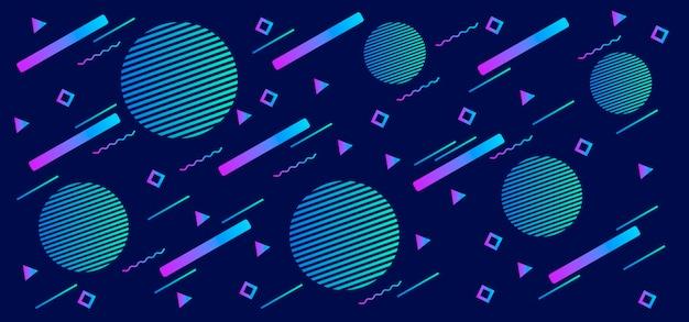 Formas geométricas gradientes em azul
