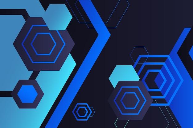 Formas geométricas gradientes em fundo escuro