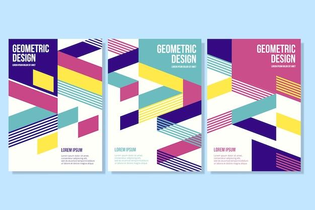 Formas geométricas na coleção de capa de negócios