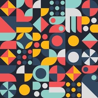 Formas geométricas padrão de fundo com estilo abstrato