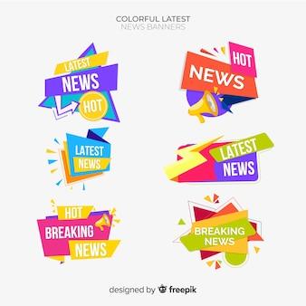Formas geométricas planas últimas notícias conjunto de banner