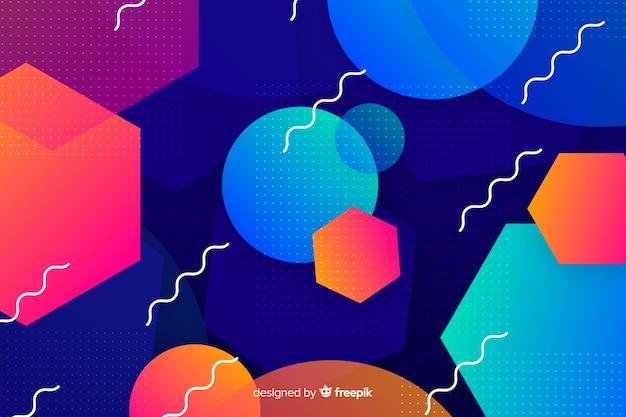 Formas gradientes com elemento geométrico