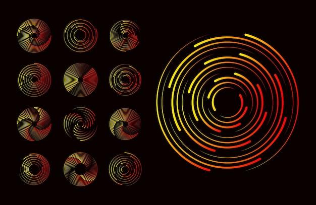 Formas gráficas abstratas vívidas uso em web design cartão de visita convite cartaz impressão têxtil