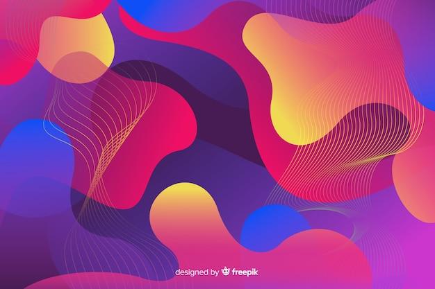 Formas líquidas gradientes coloridos