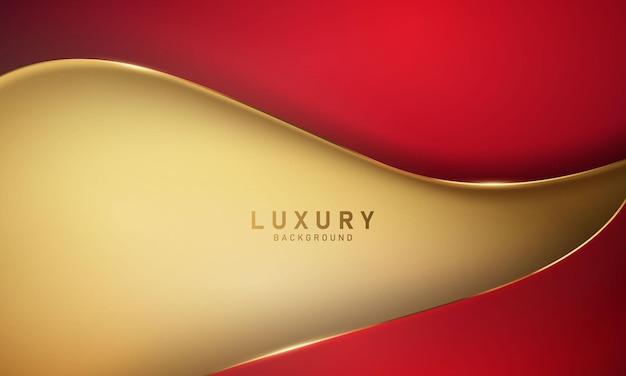 Formas modernas abstratas de ouro vermelho. design de capa de cartão postal ou brochura.