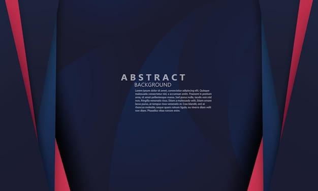 Formas modernas abstratas em azul vermelho