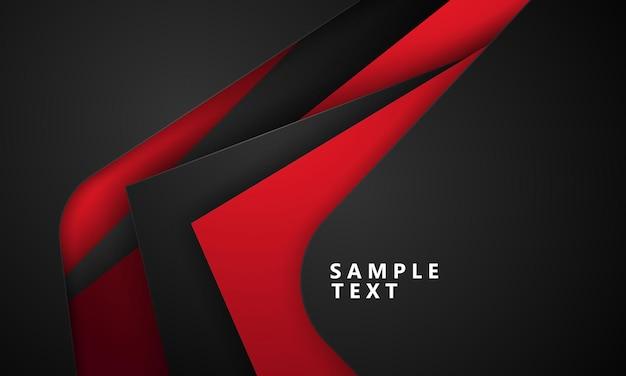 Formas modernas pretas vermelhas abstratas