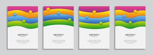 Formas onduladas a4 coloridas