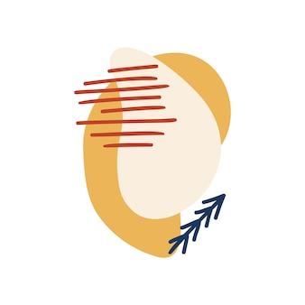 Formas orgânicas abstratas, elementos minimalistas, linhas desenhadas à mão em cores pastel. design abstrato moderno para histórias de mídia social, cartazes, branding. ilustração vetorial isolada no fundo branco.