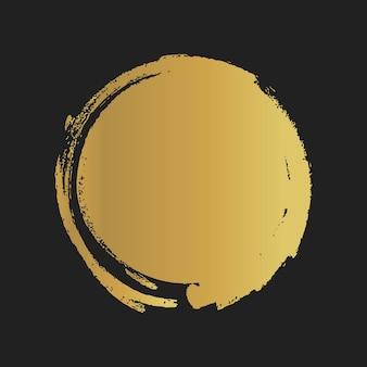 Formas pintadas vintage de ouro do grunge. ilustração vetorial.