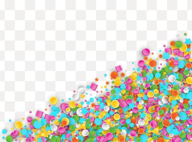 Formas plásticas coloridas