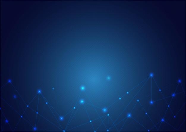 Formas poligonais abstratas sobre fundo azul.