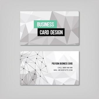 Formas poligonais cartão de visita