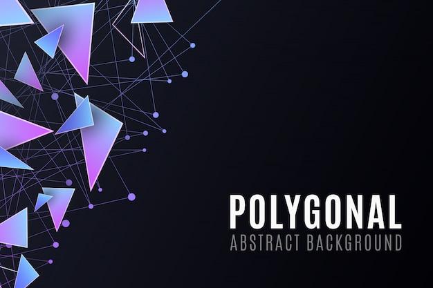 Formas poligonais. fundo moderno para o seu folheto de design.
