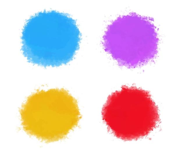 Formas redondas coloridas em aquarela