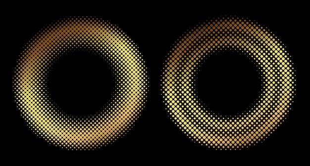 Formas redondas de meio-tom dourado