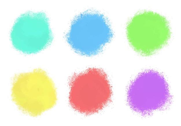 Formas redondas em aquarela abstratas