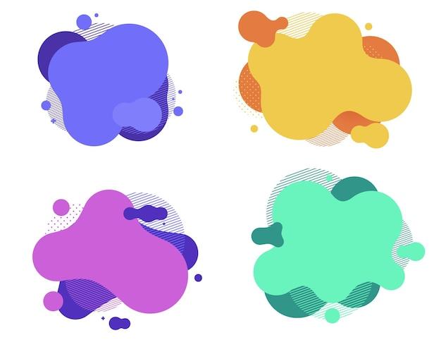 Formas redondas gradientes coloridas fluidas. bolha de respingo de líquido. arte abstrata moderna.
