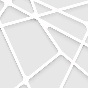 Formas sobrepostas abstratas e fundo da linha
