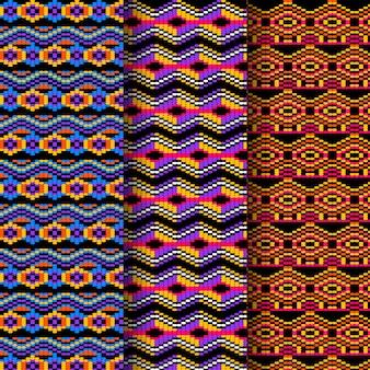 Formas vivas de modelo de padrão sem emenda de songket