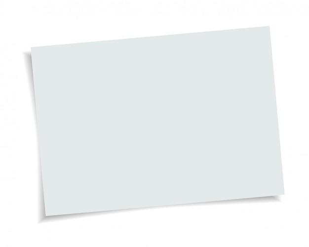 Formato de papel de vetor tamanho a4 com sombra realista. página em branco branca isolada no fundo. mock-se modelo.
