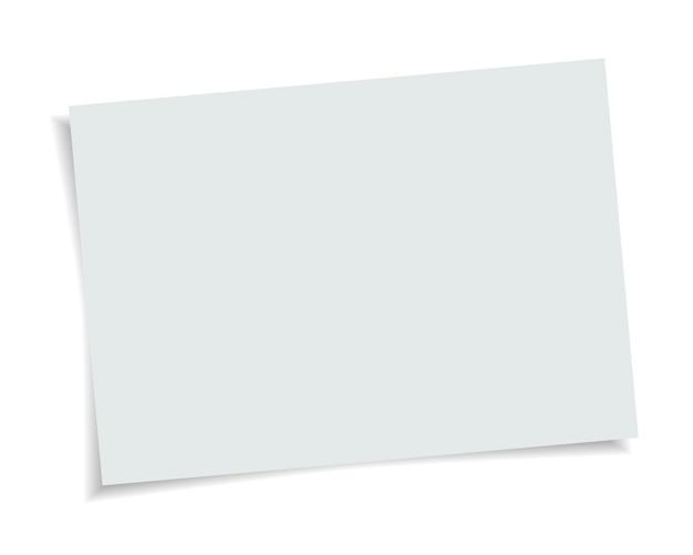 Formato de papel de vetor tamanho a4 com sombra realista. página em branco branca isolada no fundo. modelo de simulação.
