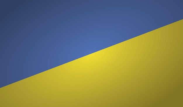 Formato do ângulo da bandeira da ucrânia