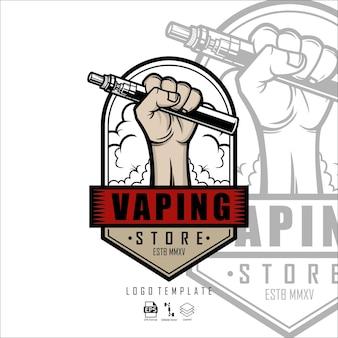 Formato pronto para modelo de logotipo de loja vaping eps 10