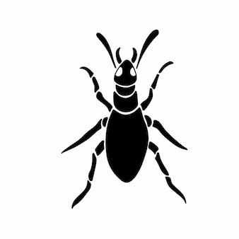 Formiga logotipo símbolo estêncil desenho ilustração vetorial de tatuagem
