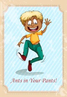 Formigas em suas calças