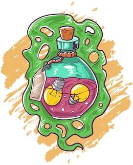 Fórmula de ideias em uma garrafa